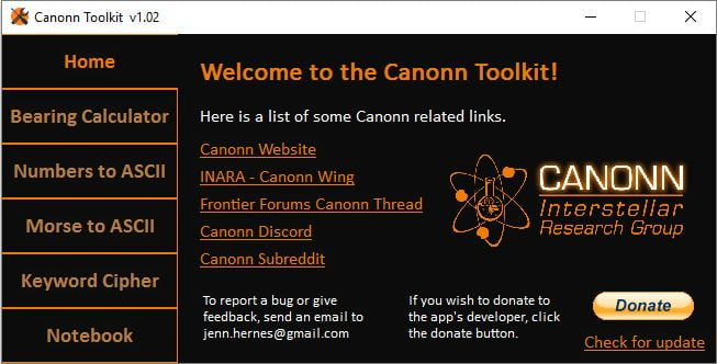 Canonn Toolkit