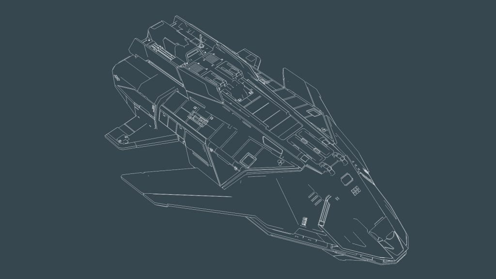 Federal Assault Ship Wireframe