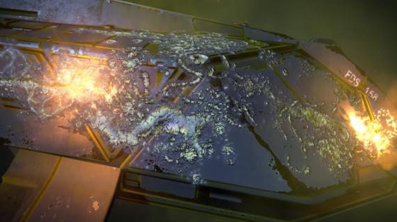 Destroyed Federal Assault ship