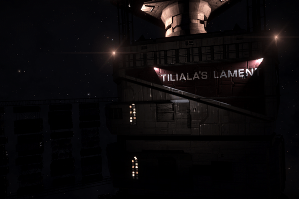 Tiliala's Lament is dockable Megaship orbiting Akandinigua 5