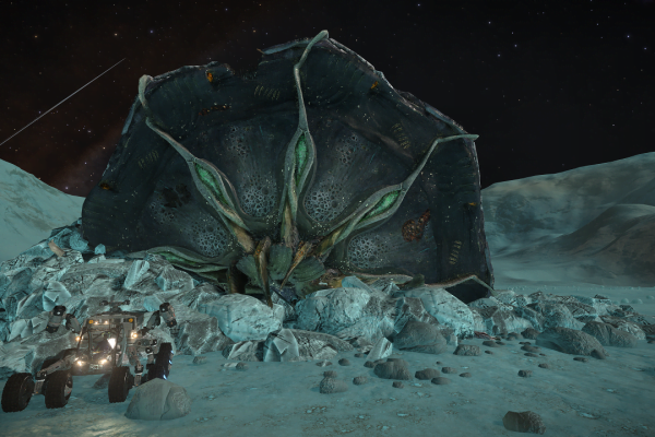 Crashed Thargoid Scout Pleiades Sector LN-T c3-4 2 a
