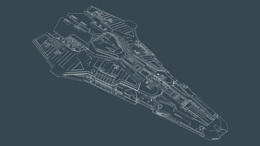 Federal Corvette Wireframe